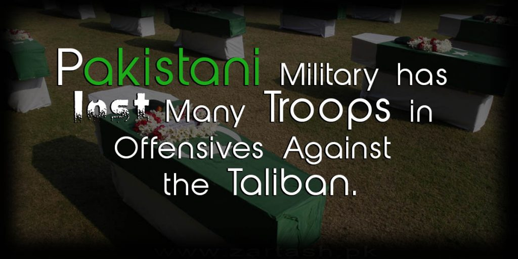 Pakistani army lost many trops in offencive taliban