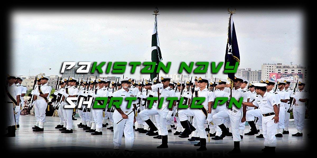 Pakistan Navy short title PN