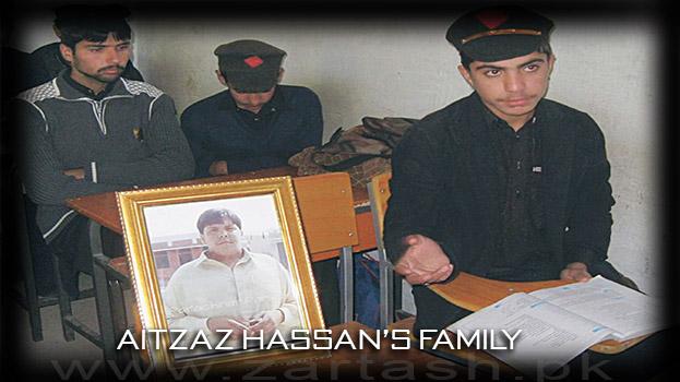 Aitzaz Hassan's family