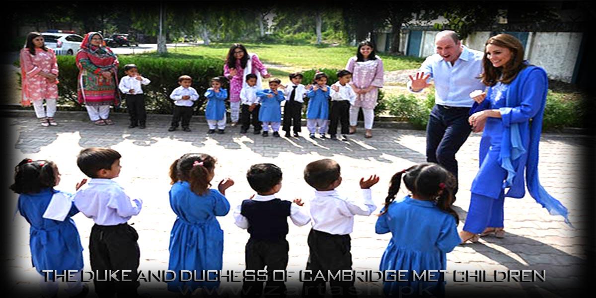 The Duke and Duchess of Cambridge Met Children