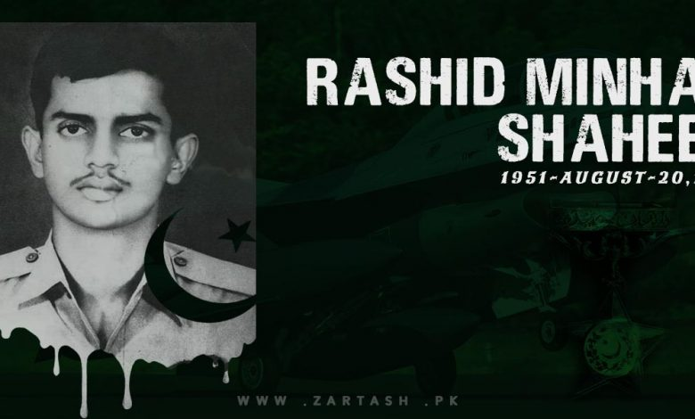 Photo of Rashid Minhas Shaheed – Our Great Master of the Sky
