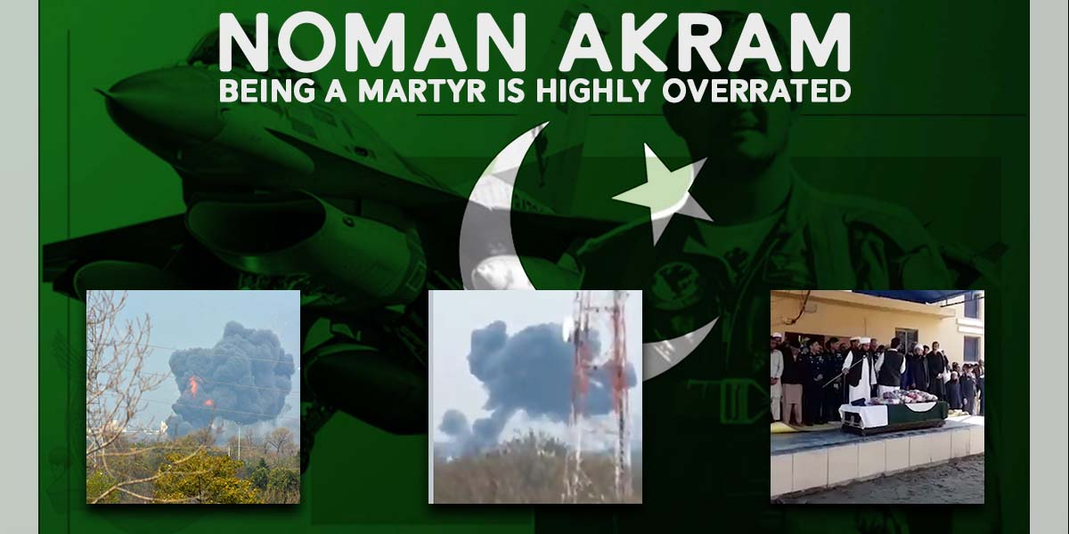 Noman Akram-Being a martyr is highly overrated