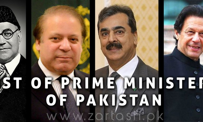 Photo of List of Prime Ministers of Pakistan