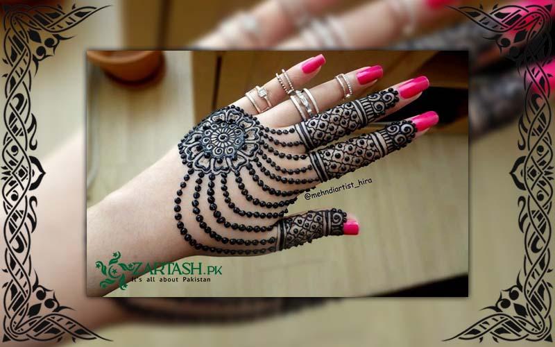 Tikki Style Mehndi Designs