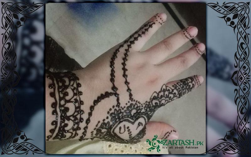 Alphabet Mehndi Design