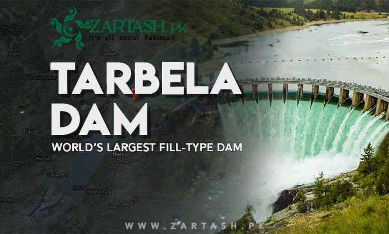 Photo of Tarbela Dam in Pakistan   World's Largest Fill-Type Dam