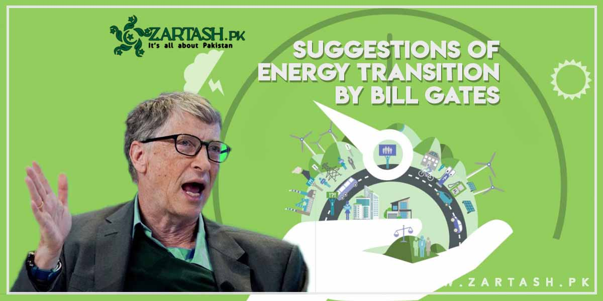 Suggestions of Energy Transition by Bill Gates