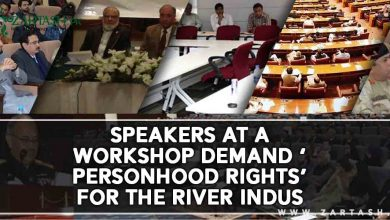 Photo of Speakers at a workshop demand 'Personhood Rights' for the River Indus